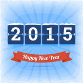 Gott nytt år 2015 vektor illustration. — Stockvektor