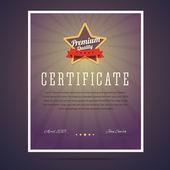 Premium quality certificate. — Stock Vector