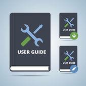 User Guide Manual Book Illustration — ストックベクタ