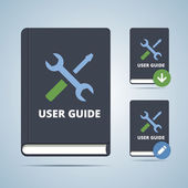 User Guide Manual Book Illustration — Stock Vector
