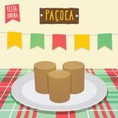 Paçoca - Peanut Candy — Stock Vector