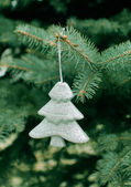 Christmas toy on the fir tree — Stock Photo