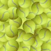 Exotic color tennis ball as sport background — Stock Photo