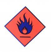 Flamme symbole avertissement — Photo