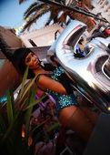 Bailarines de discoteca ibiza — Foto de Stock