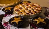 感謝祭桜とミンチ肉のパイ — ストック写真