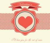 Valentine's Day Vintage Card - Illustration — Stock vektor