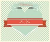 Dia dos namorados cartão Vintage - ilustração — Vetor de Stock