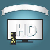High definition tv — Stock Vector