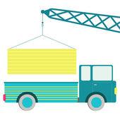 Load truck — Stock vektor