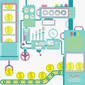 Industry of money — Stock Vector