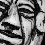 Inca stone portrait — Stock Photo #56855393