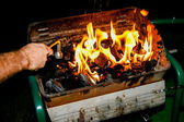 Fired up the grill — Stock Photo