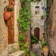 Alley in old town Pitigliano Tuscany Italy — Stock Photo #57100633