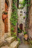 小巷里的老镇皮蒂利亚诺托斯卡纳意大利 — 图库照片