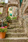 Alley in Italian old town Liguria Italy — Stock Photo