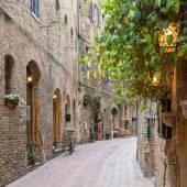 Gasse in der Altstadt Toskana Italien — Stockfoto