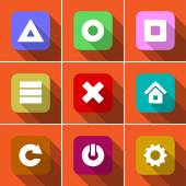 Icon set in flat design — Vector de stock