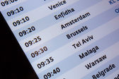 Arrival Departure Board in International Airport — Stock Photo