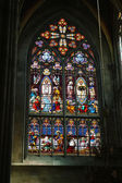 Stained glass art in Wien — Stock Photo