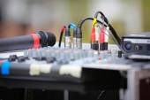 Detail of a sound mixer — Foto Stock