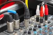 Detail of a sound mixer — Stockfoto