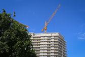 Yellow construction crane — Stock Photo