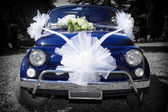 Wedding Day: Vintage Italian Car  — Zdjęcie stockowe