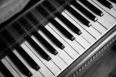 Keyboard of Vintage Piano — Stock Photo