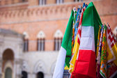 Banners of the Contrade in Siena — Stock Photo