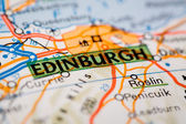 Edinburgh City on a Road Map — Stock Photo