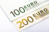 Closeup of Euro Banknotes — Stock Photo