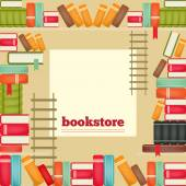 The rows of books on shelves — Stock Vector