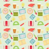Seamless pattern with office items — Stock Vector