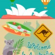 Welcome to Australia — Stock Vector #72567297