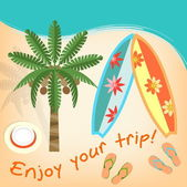 Enjoy your trip — Stock Vector