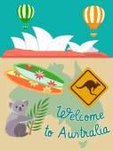 Welcome to Australia — Stock Vector