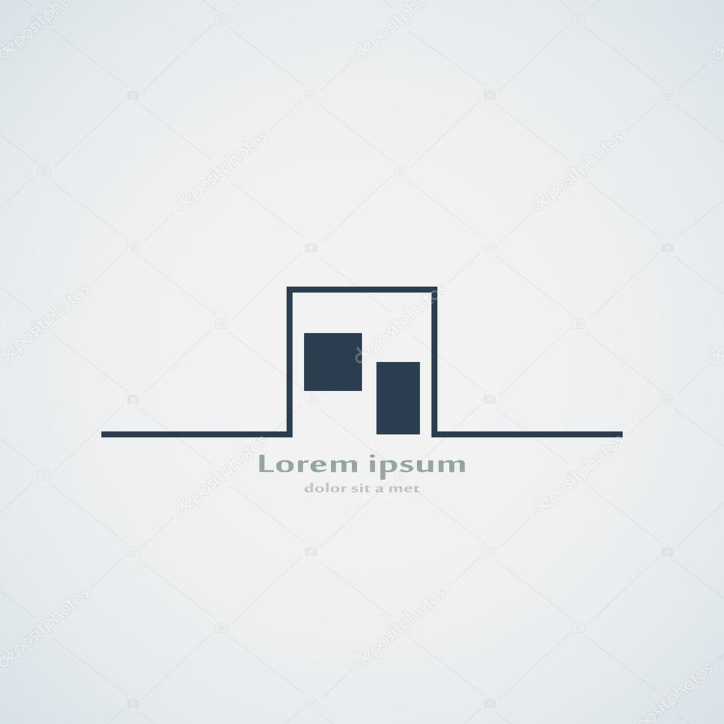 Abstrait architecture b timent mod le de conception logo for Tianhua architecture design company