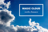 Vector abstract cloud banner. — Stock Vector