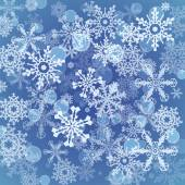 Snowflakes pattern background. — Stock Vector