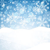 Snowflakes background. — Vettoriale Stock