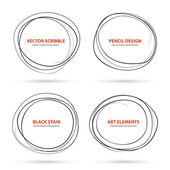 Hand drawn scribble circles template. Vector — Stock Vector