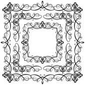Set de decoración de marco — Vector de stock