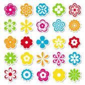 Flores brillantes — Vector de stock