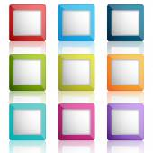 Web buttons or frames — Stock Vector