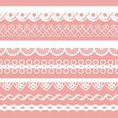 Set of laces for scrapbook — Stockvector