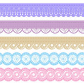 Laces for scrapbook — Stockvector