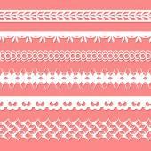 Set of paper laces — Stockvector