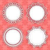 Set of 4 lacy frames — Stock Vector