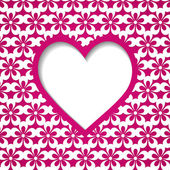 Pink holiday background with a heart — Cтоковый вектор